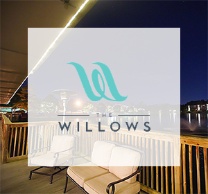 The Willows Event Center logo over their property in Indianapolis