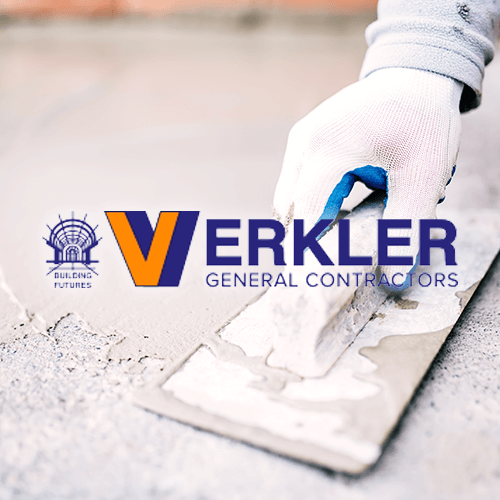 Thumbnail of concrete laying and Verkler Construction website