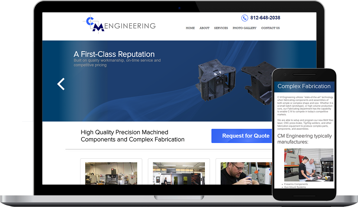 C M Engineering's New Website - Designed & Developed by Marketpath