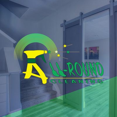 All-Round Cleaning logo over a clean home