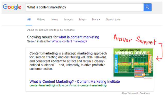 "Google's ""Featured Snippets"" Answer Questions (Content Marketing)"
