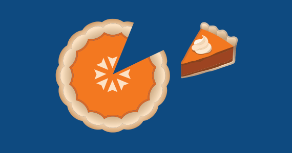Marketpath Logo as a Pie for Pi Day