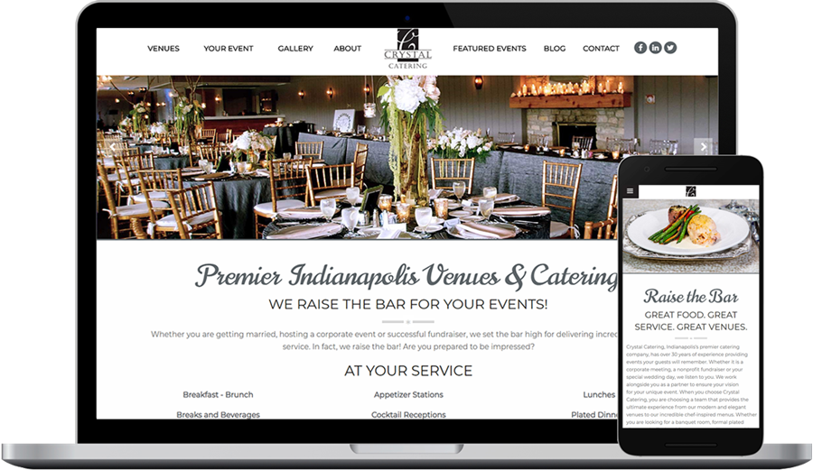 Catering and Event Firm Web Design and SEO Project