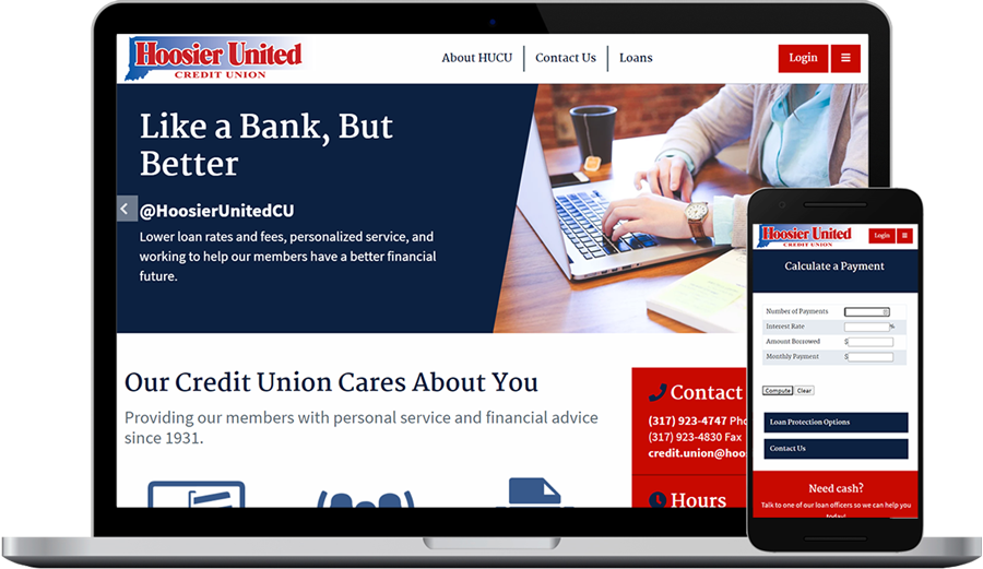 Credit Union Websites (Design and Development)