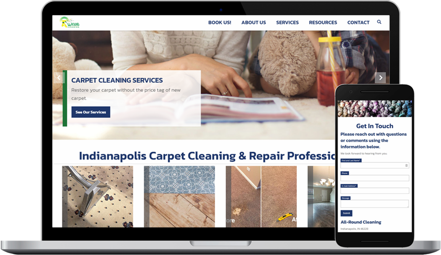 Website Design and Development for Carpet Cleaning Company in Indianapolis