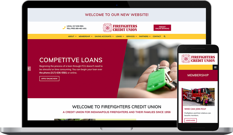 Firefighters Credit Union's New Website