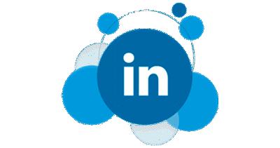 LinkedIn logo in bubbles