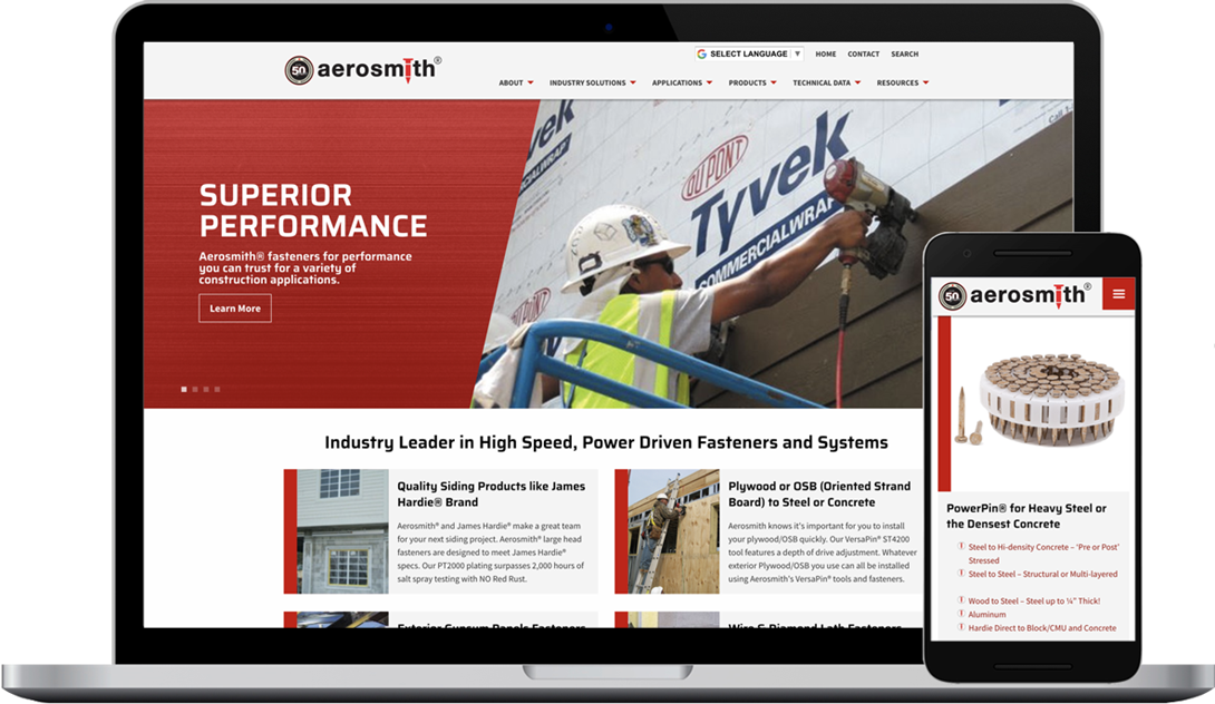 Aerosmith Fastening, Fasteners for the Construction Industry and Professionals