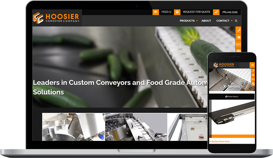 Manufacturing Website Design & Development for Hoosier Conveyor (Indiana)