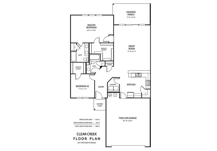 Floorplan, Clear Creek Properties | Danville, Indiana