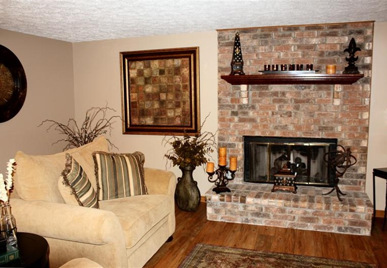 Clubhouse Fire Place | Eastlake Woods Apartments | Columbus, Indiana