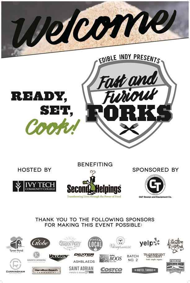 Fast & Furious Forks Sous Chef Cooking Competition Welcome Sign