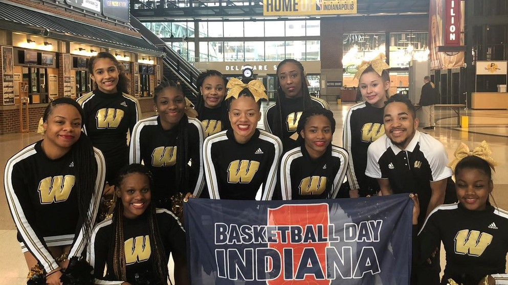 Warren Central Cheerleaders put their stamp on Indiana Basketball!!