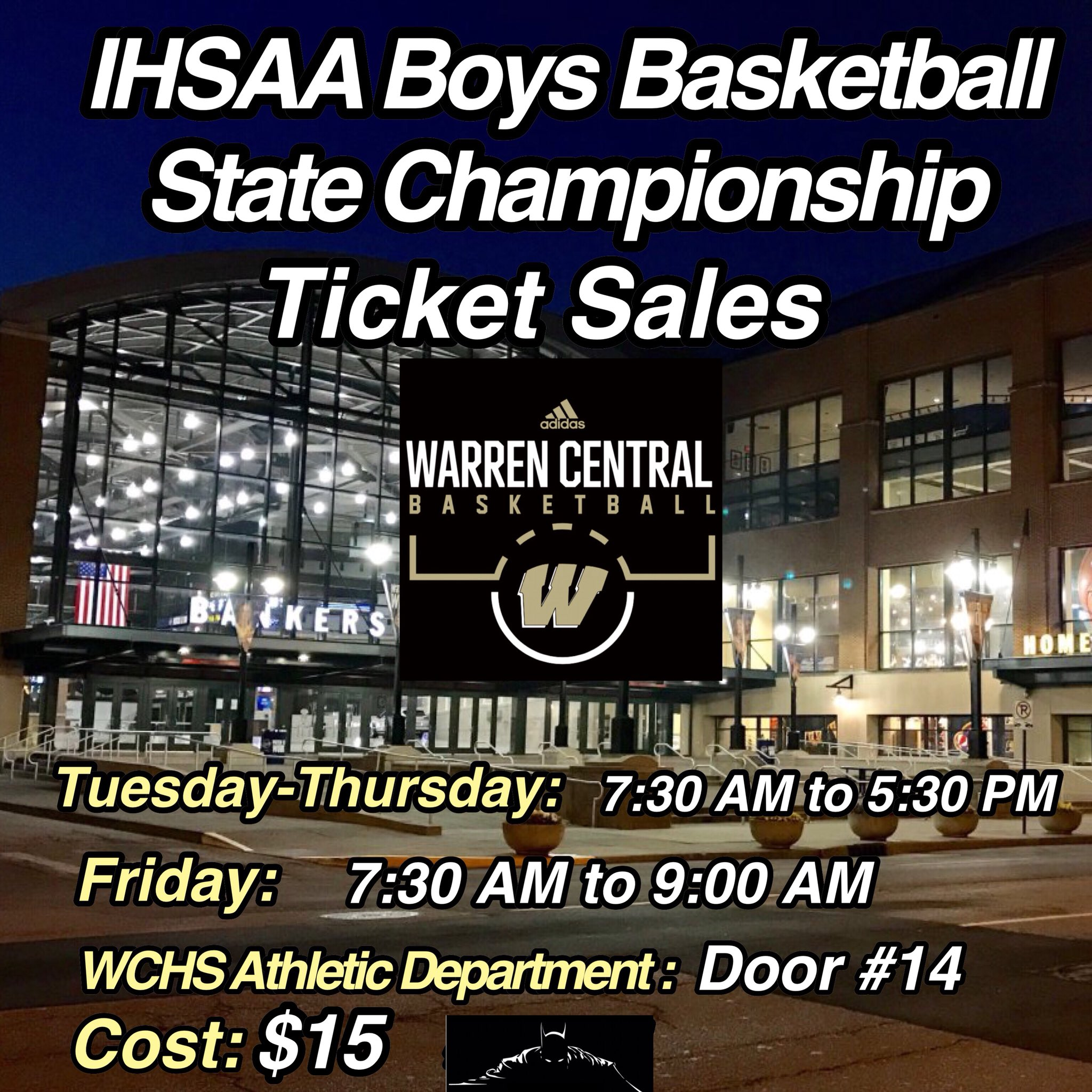 IHSAA Boys Basketball State Championship Ticket Sales