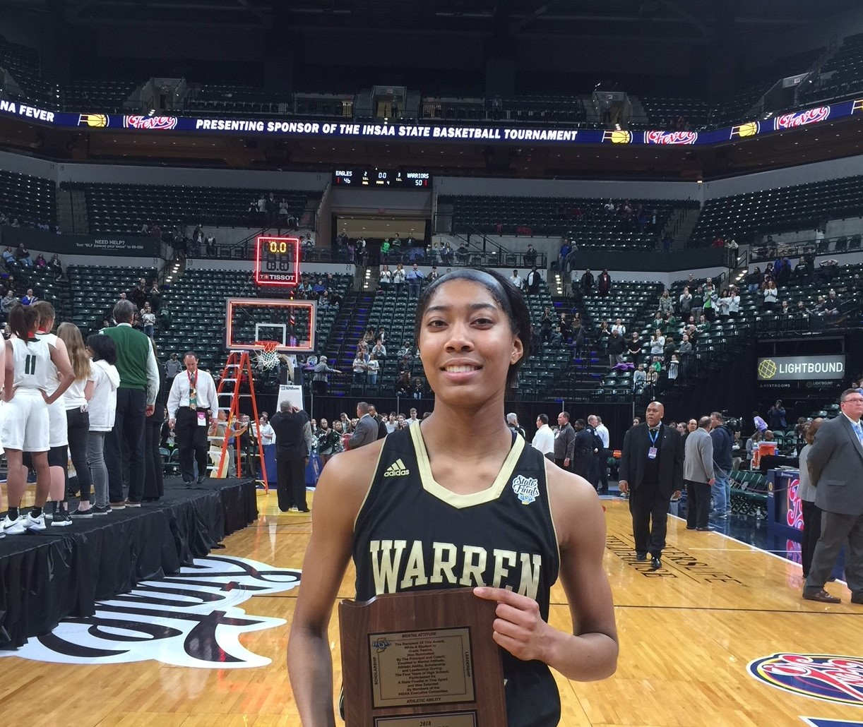 2018 IHSAA 4A Girls Basketball Mental Attitude Winner Maray Bell