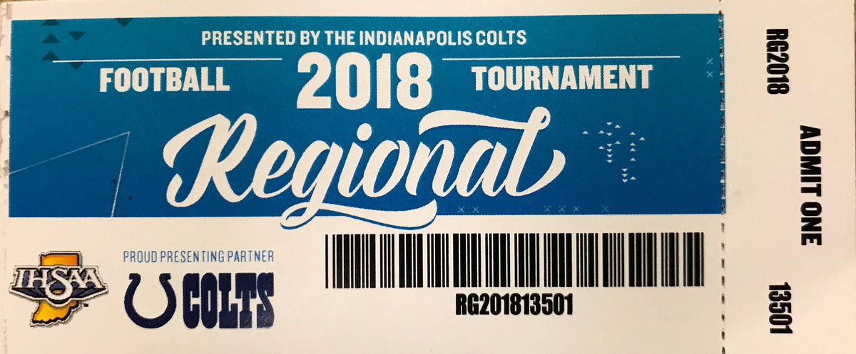 Pre-sale IHSAA 6A Football Regional tickets will go on sale Wednesday morning in the WCHS Athletic Department.