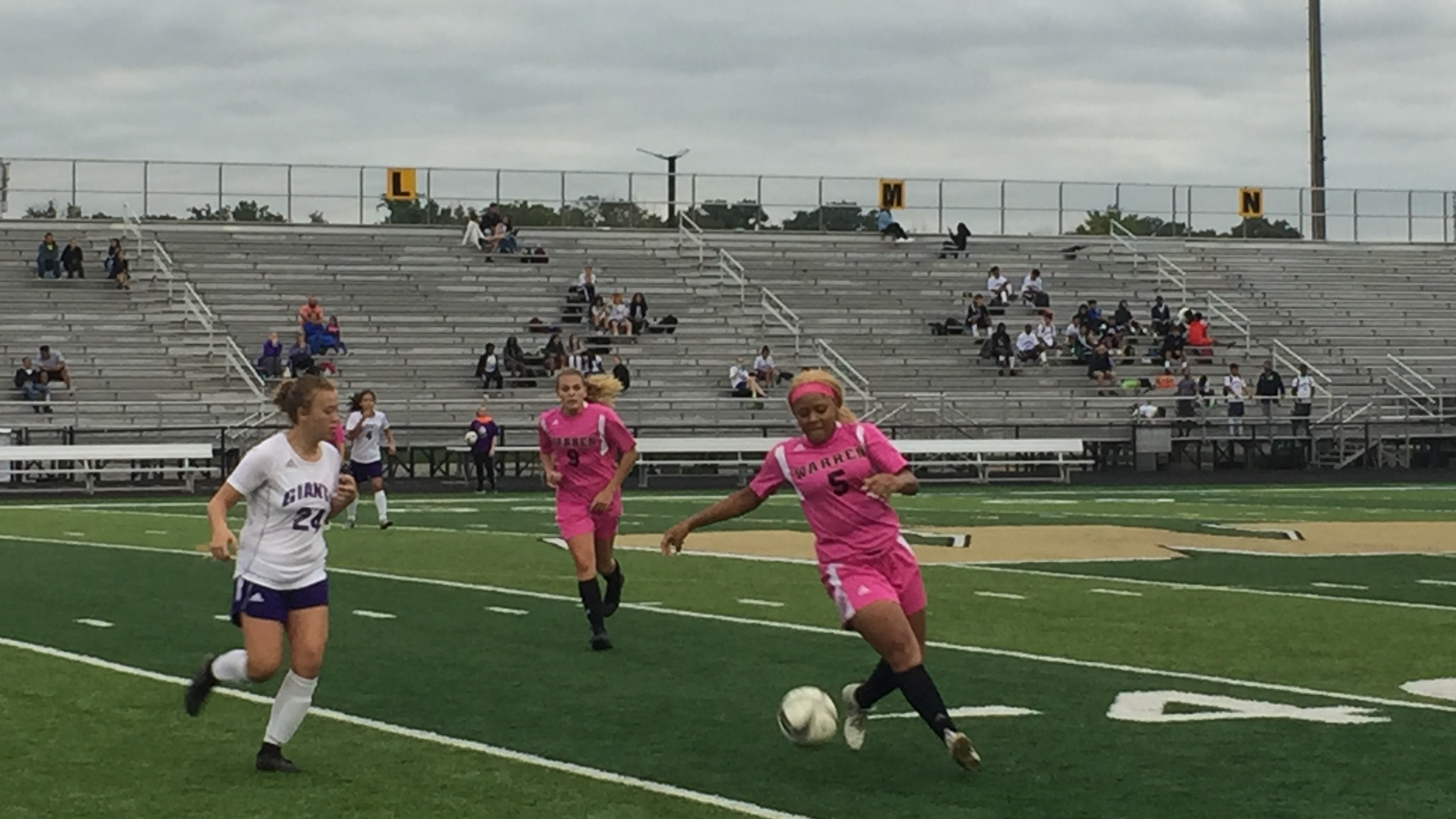 Girls Soccer Pinks the Night!