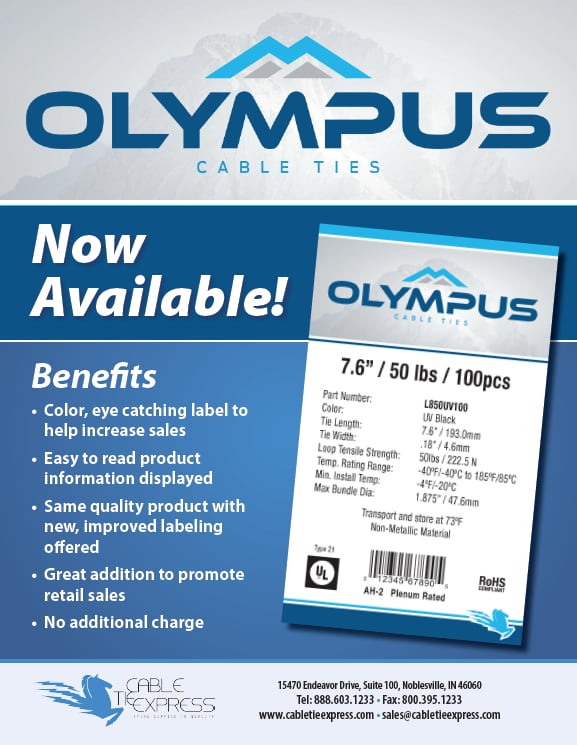 Olympus Private Label Cable Ties Flyer Cover