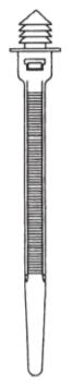 Fir Tree Zip Tie - Vertical