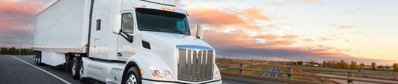 White Truck Trailer for Shipping