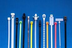 Cable Tie Product Line and Offerings by Cable Tie Express on a blue background