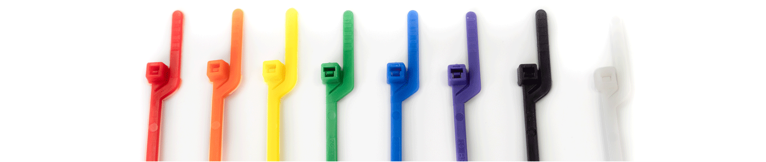 EZ Off Ties in a variety of colors by Cable Tie Express