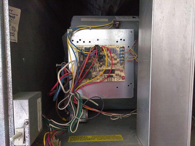 Cable Ties help to manage cords for an HVAC control circuit