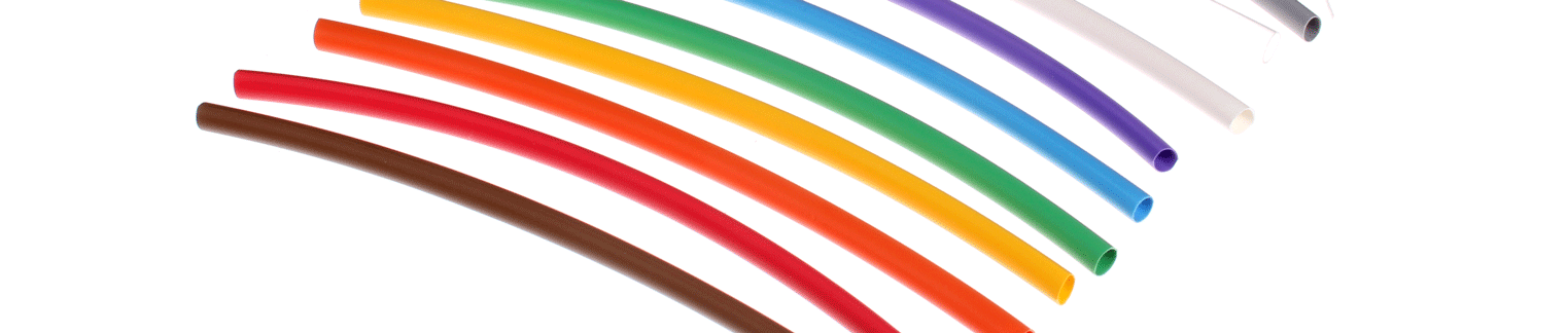 Heat Shrink Tubing - available in thin or double walled and in a variety of colors