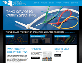 Cable Tie Express' New Website