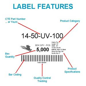 Cable Tie Shipping Label