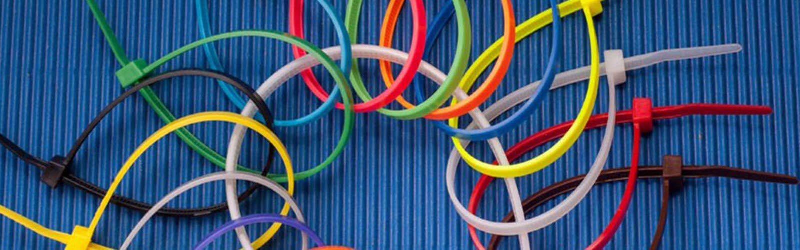 Colored Zip Ties on Natural Cable Tie