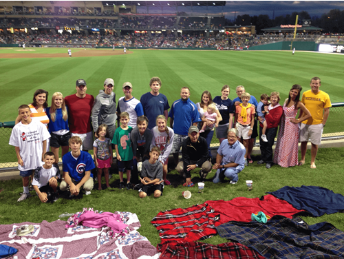Cable Tie Express Team at the Indianapolis Indians game