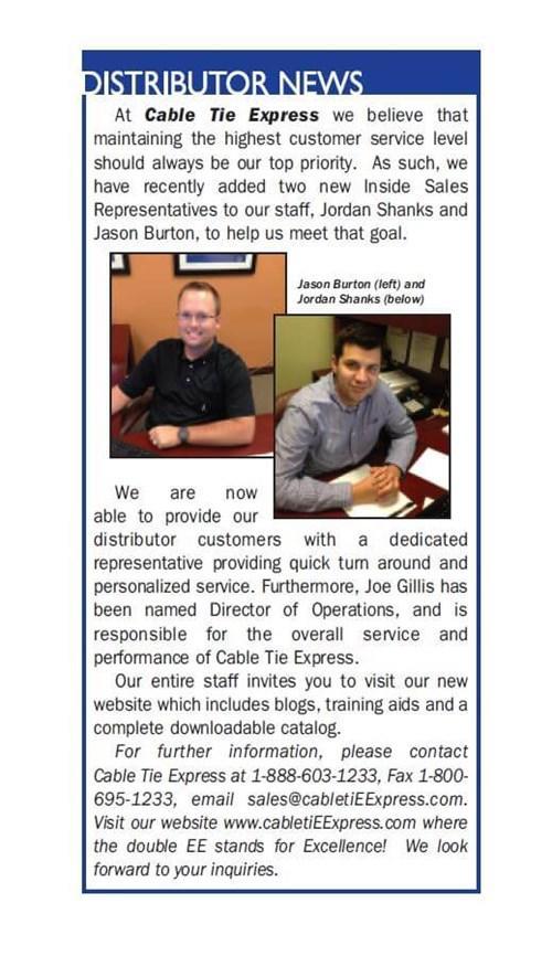 Distributor News - Growing Staff
