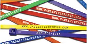 Stamped Ties with Company Information